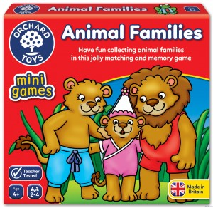 Orchard Toys Animal Families Mini Game-gra mini